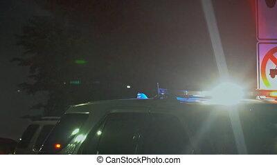 autó, villanás, járőr, út, rendőrség
