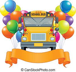autóbusz, amerikai, izbogis