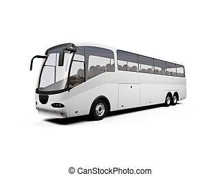autóbusz, elszigetelt, kilátás