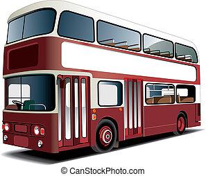 autóbusz, emeletes busz