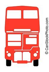 autóbusz, emeletes busz, london