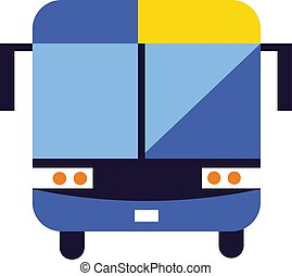 autóbusz, fehér, elszigetelt, háttér