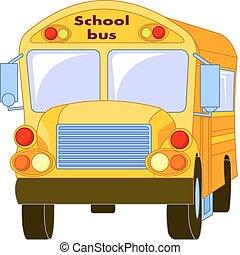 autóbusz, izbogis, sárga