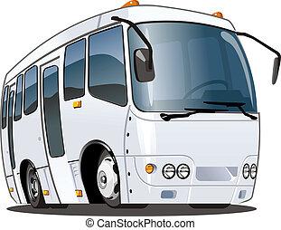 autóbusz, karikatúra