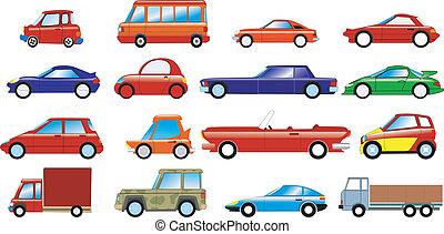 autók, állhatatos, jelképes