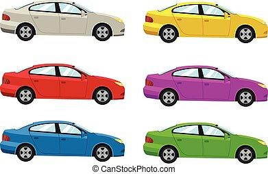 autók, szegély kilátás