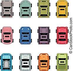 autók, tető kilátás
