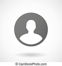 avatar, háttér, ikon, white hím