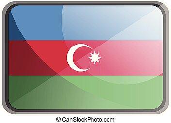 azerbajdzsán, ábra, háttér., lobogó, vektor, fehér