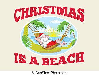 bágyasztó, klaus, atya, szent, tengerpart, karácsony
