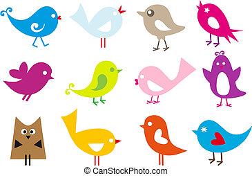 bájos, madarak