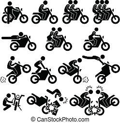 bámulatos dolog, fenegyerek, motorkerékpár, ikon