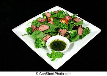 bárány, 1, saláta