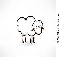 bárány, grunge, ikon