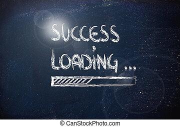bár, siker, berakodás, tábla, (sparkle), előrehalad