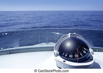 bástya, jacht, csónakázik, iránytű