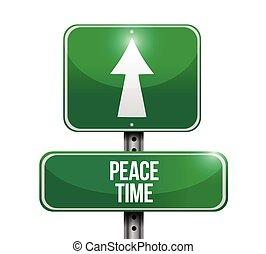 béke, ábra, aláír, utca, tervezés, idő