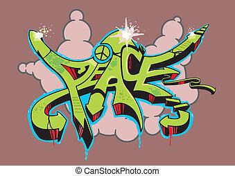 béke, falfirkálás
