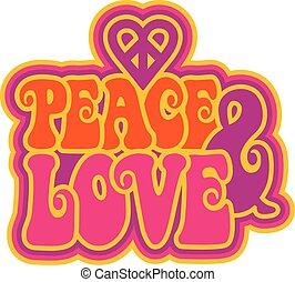 béke, szeret, &