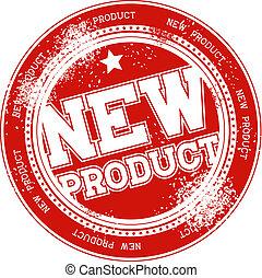 bélyeg, új termék, vektor, grunge
