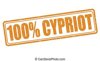 bélyeg, 100 percent percent, ciprusi