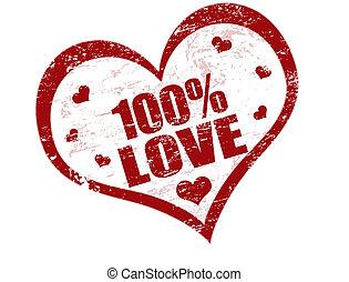 bélyeg, 100%, szeret
