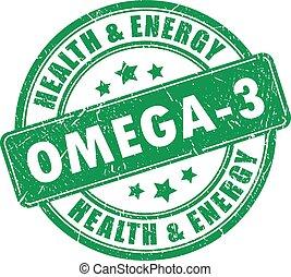 bélyeg, 3, vektor, omega
