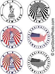 bélyeg, amerikai