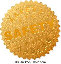 bélyeg, arany-, biztonság, adományoz