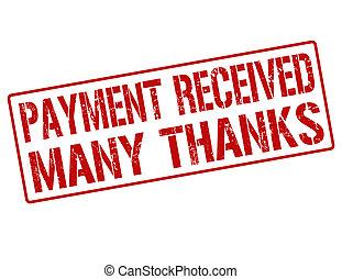bélyeg, befogadott, sok, köszönet, fizetés