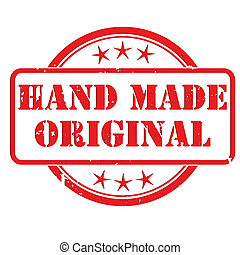 bélyeg, elkészített, kéz