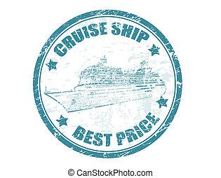 bélyeg, hajó, -, legjobb, cirkálás, ár