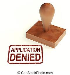 bélyeg, kölcsönad, elhajít, alkalmazás, vízum, tiltott, vagy, látszik