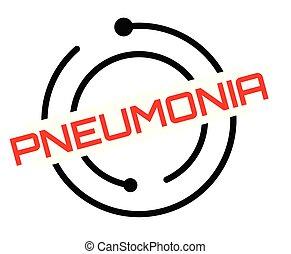 bélyeg, pneumonia, nyomdai