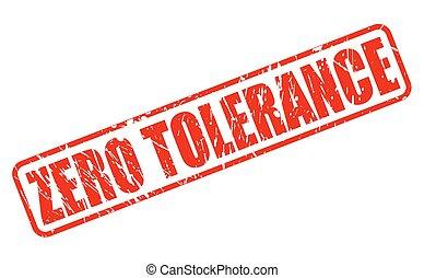 bélyeg, szöveg, zéró, tolerancia, piros