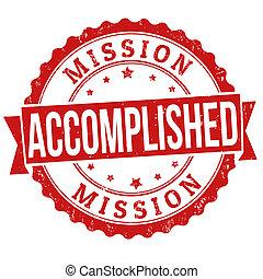bélyeg, tökéletes, misszió