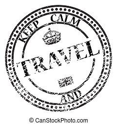 bélyeg, utazás, csendes, tart