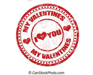 bélyeg, valentines, az enyém