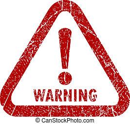 bélyeg, vektor, figyelmeztetés