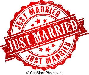 bélyeg, vektor, igazságos házas