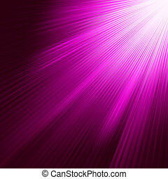 bíbor, 8, fénylő, eps, rays.