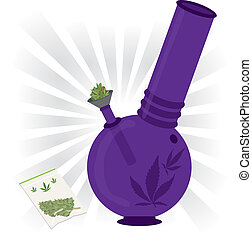 bíbor, bong, marihuána