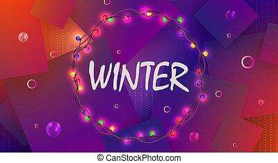 bíbor, gumók, karácsony, tervezés, fény, koszorú, égető