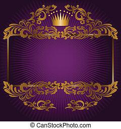 bíbor, jelkép, királyi, háttér