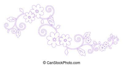 bíbor, motívum, virág