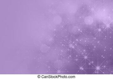 bíbor, orgona, csillag, elhomályosít, háttér