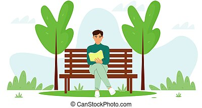 bírói szék, felolvas, őt ül, pasas, fiatal, könyv