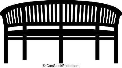 bírói szék, kert, ikon