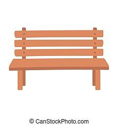 bírói szék, liget, erdő, berendezés, mód, elszigetelt, ikon
