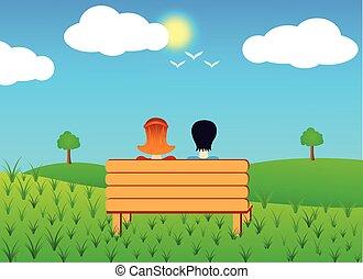 bírói szék, párosít, ülés